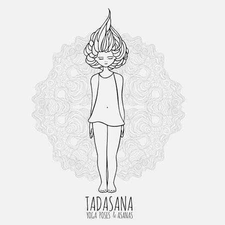 Image result for tadasana cute girl image
