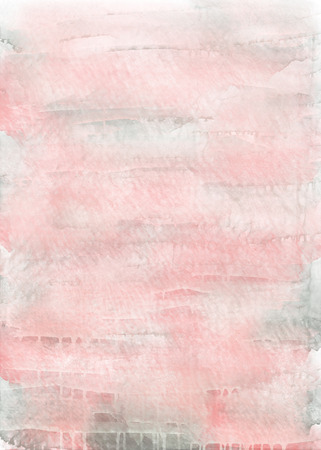 pink and grey watercolor vertical background. Hand draw watercolor backdrop with flowing paint and water. Effect of transparent paper and liquid technique of drawing
