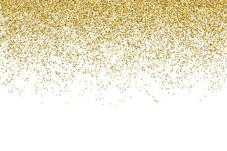 Vector realistic gold glitter particles effect - isolated shiny confetti and glitter sparkling texture. Star dust sparks in explosion on transparent background. 向量圖像