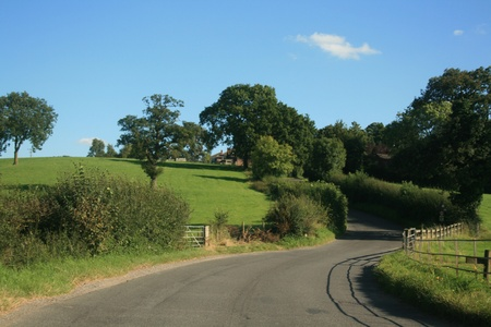 Winding road in the English countryside  Stock Photo - 9972263