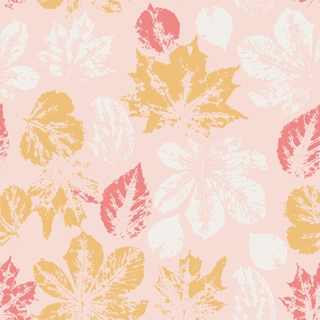 Seamless pattern with watercolor colorful leaves. Vector illustration. Vector