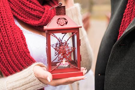 kerosene lamp: red vintage kerosene lamp