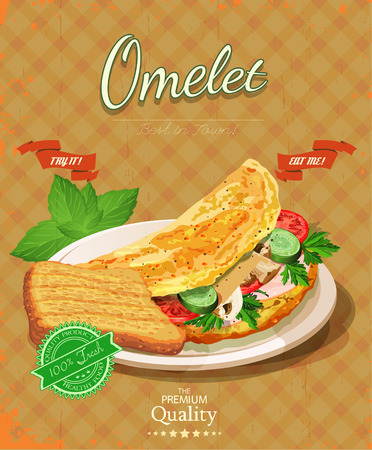 wholemeal: Bacon with fried eggs, green peas, tomatoes, cucumbers and toast. Poster cafe.