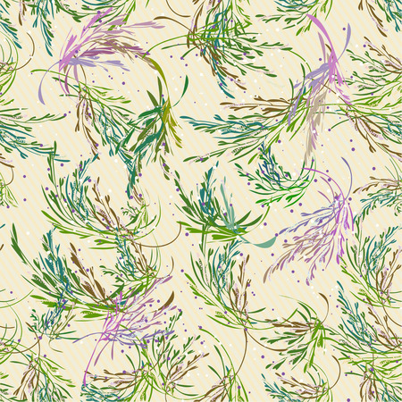 Lavender branches seamless pattern. Vintage style. Vector