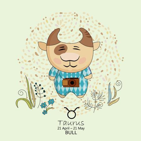 Zodiac sign - Taurus illustration Vector