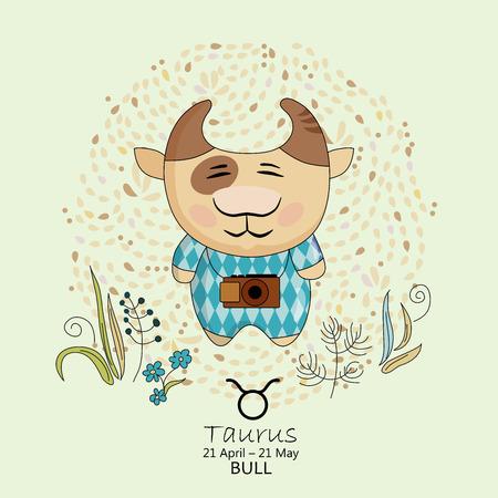 vedic: Zodiac sign - Taurus illustration Illustration