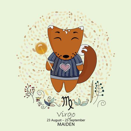 virgo: Signo del zodiaco - Virgo ilustración Vectores