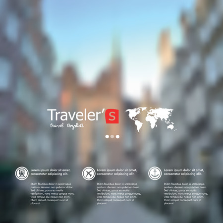 unfocused: City blur unfocused background, web and mobile interface template