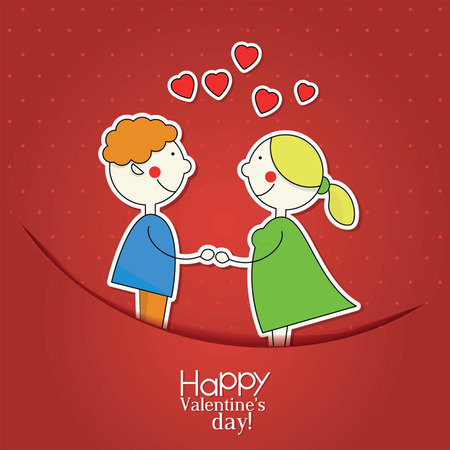 promise: Valentines day greeting card in vintage hipster style Illustration