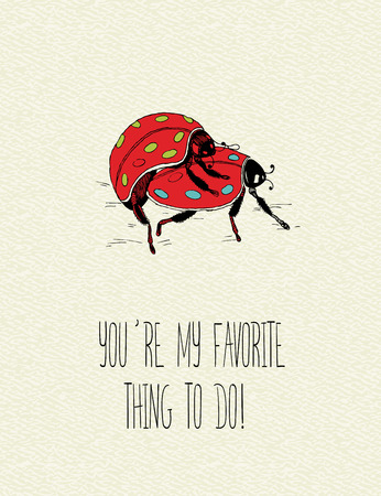 promising: Valentines day greeting card in vintage hipster style Illustration