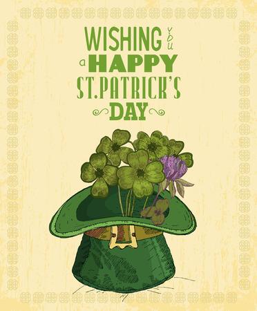 stpatrick: Happy St. Patricks day greeting card. Poster design elements for Patrick Day