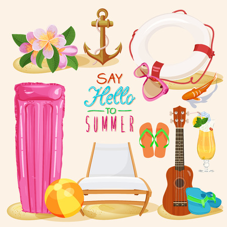 ukulele: Summer set Illustration