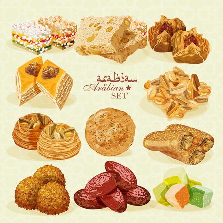 Arabic Food. Traditional eastern cuisine.
