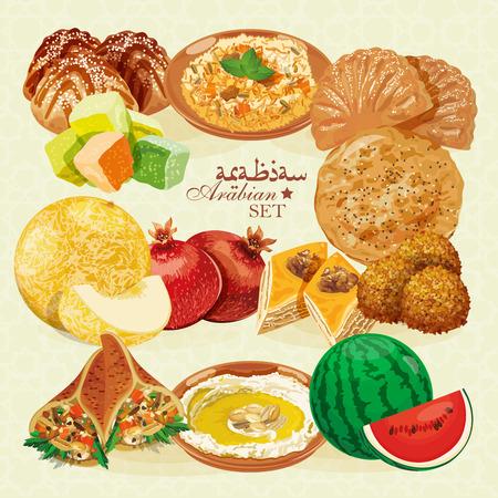 comida arabe: La comida �rabe. Cocina oriental tradicional.