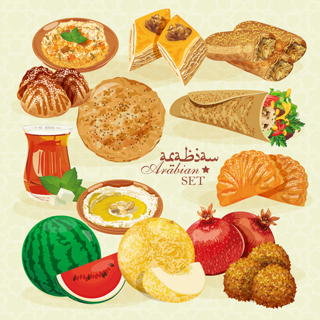 middle eastern: Arabic Food. Traditional eastern cuisine.