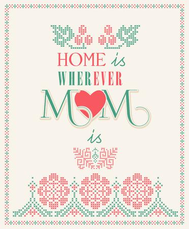 Mother day greeting card Иллюстрация