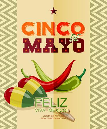 independencia: Cinco de Mayo. Feliz. Viva Mexico. Texto en espa�ol. D�a de la Victoria en Puebla, D�a de la Independencia de M�xico. Vectores
