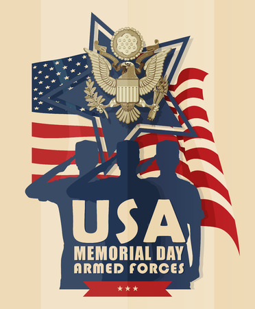 memorial day: Memorial day greeting card