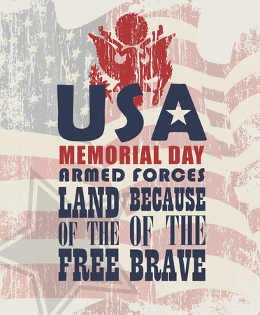 Memorial day greeting card Banco de Imagens - 39941429