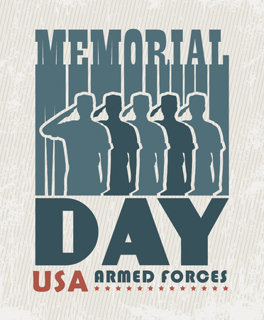 soldiers: Memorial day greeting card