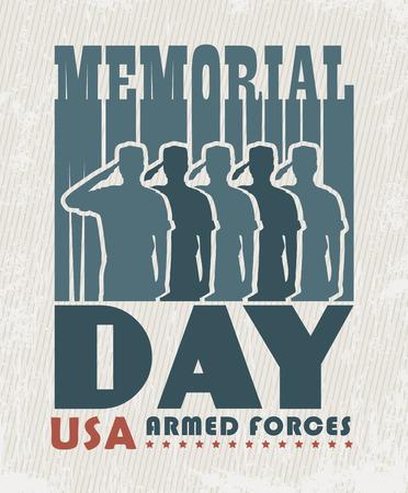 soldado: Tarjeta de felicitación del día de Conmemoración Vectores