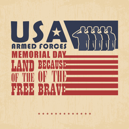 national freedom day: Memorial day greeting card