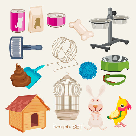 cat grooming: Some cute vector stuff for pets