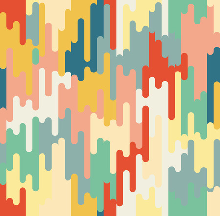 Abstract seamless pattern. Geometrical and ornamental motifs. Retro disco style