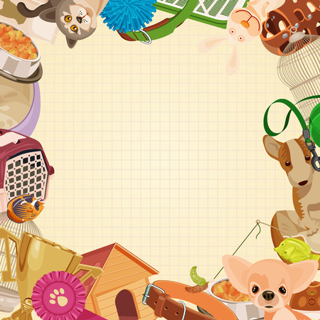 shop icon: Pet shop background with pets.
