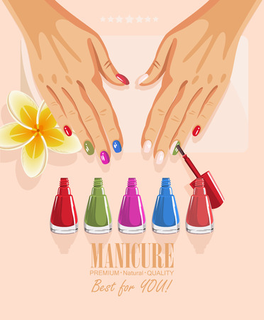 procedure: manicure procedure illustration