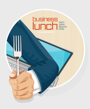 almuerzo: Tiempo del almuerzo de fondo concepto de diseño