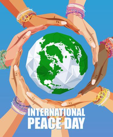 국제 평화의 날 벡터 포스터