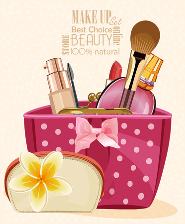 product background: Make up kit