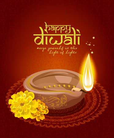 diwali celebration: Vector greeting card for Hindu community festival Diwali . Happy Diwali Indian Religious festival background illustration.