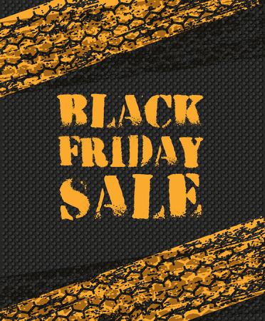 schwarz: Black Friday Sale-Poster im Retro-Design