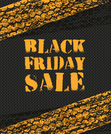 black and white frame: Black Friday Sale poster in retro design Illustration