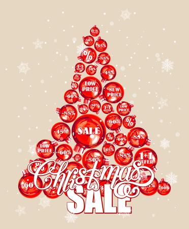christmas sale: Christmas sale background Illustration