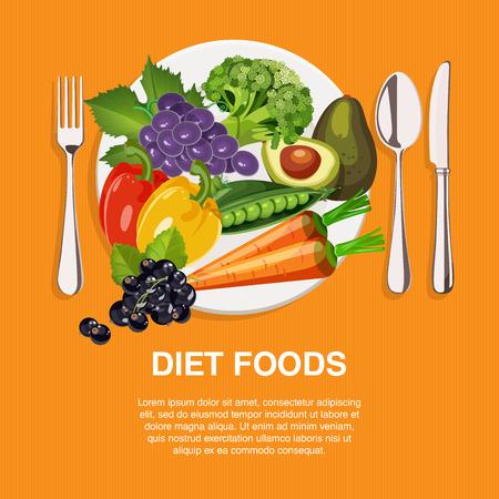 健康的な食事のビーガンの食品のコンセプト