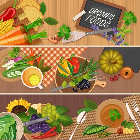 Vector illustration of vitamin groups. Fruit and vegetables set. Ilustracja