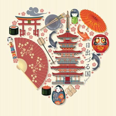 豪華な日本旅行のポスター