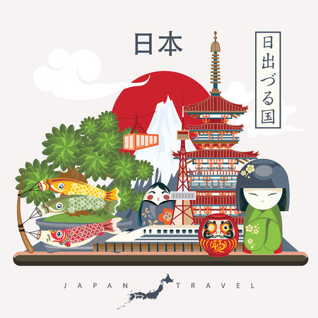 Gorgeous Japan travel poster