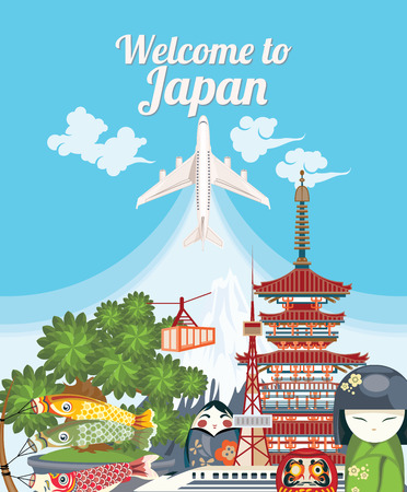 Welcome to Japan. Travel Japanese landmarks.