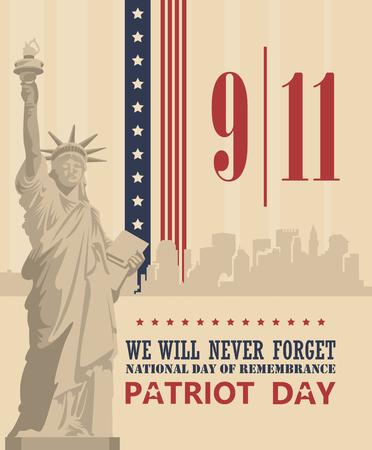 Plakat wektor Patriot dni. 11 września. 9/11 Ilustracje wektorowe