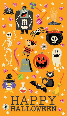 Happy Halloween greeting card. Ilustração