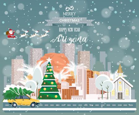 メリー クリスマスと幸せな新年、アリゾナ州