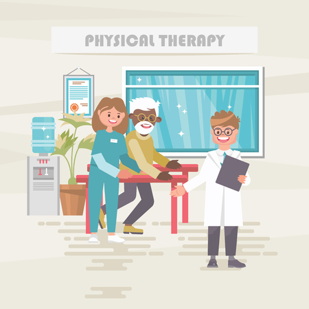 Physical therapy. Medical vector concept. Healthcare and treatment illustration.