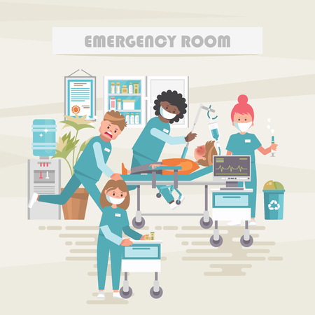 Emergency room. Medical vector concept. Healthcare and treatment illustration.