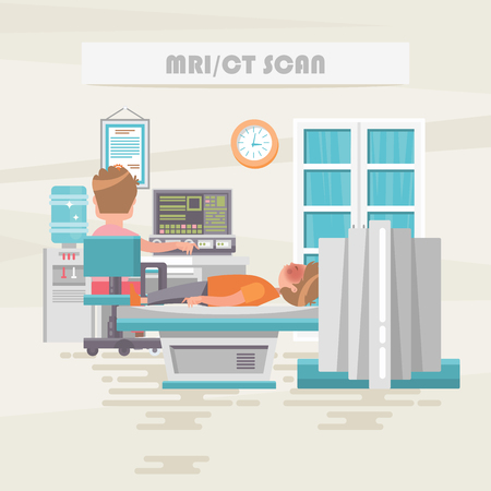 MRICT scan. Medical vector concept. Healthcare and treatment illustration.