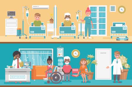 Notion de vecteur médical. Illustration de soins de santé et de traitement.