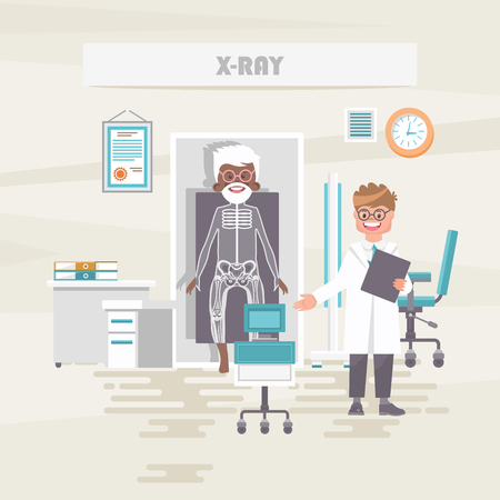 X-ray. Medical vector concept. Healthcare and treatment illustration. Banque d'images - 118976952